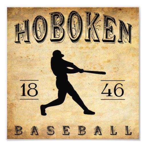 1846 Hoboken New Jersey Baseball Photo Print