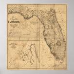 1846 Map of Florida Print