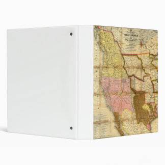 1846 Map of Texas Oregon California by A Mitchell 3 Ring Binder