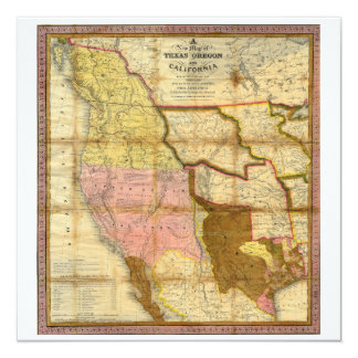 1846 Map of Texas Oregon California by A Mitchell Card