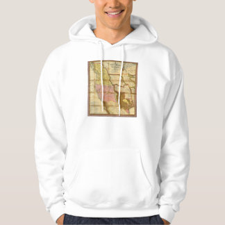 1846 Map of Texas Oregon California by A Mitchell Hoodie