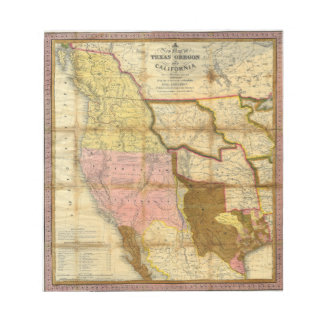 1846 Map of Texas Oregon California by A Mitchell Notepad