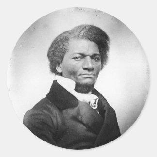 ~ 1847 del retrato de Frederick Douglass Pegatina Redonda