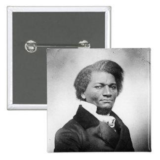 ~ 1847 del retrato de Frederick Douglass Pin Cuadrado