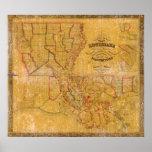 1848 Louisiana Plantations Map Print