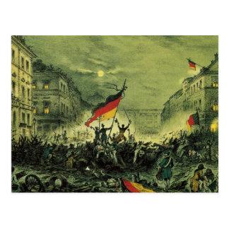 1848 Revolution in Berlin Postcard
