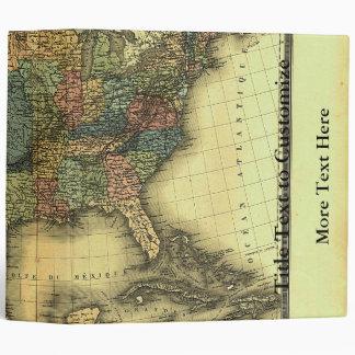 1848 Thunot Duvotenay Map:  Etats-Unis & Mexique 3 Ring Binder