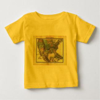1848 Thunot Duvotenay Map:  Etats-Unis & Mexique Baby T-Shirt