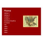 1848 Thunot Duvotenay Map:  Etats-Unis & Mexique Business Cards