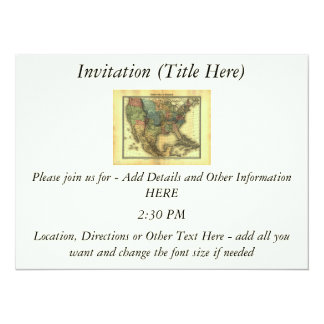1848 Thunot Duvotenay Map:  Etats-Unis & Mexique Card