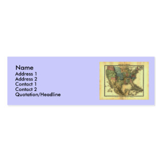 1848 Thunot Duvotenay Map:  Etats-Unis & Mexique Mini Business Card