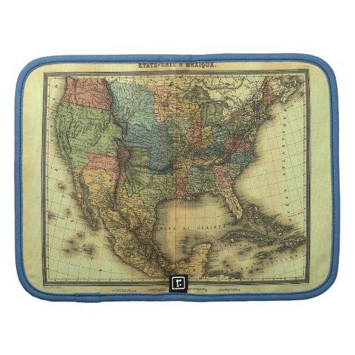 1848 Thunot Duvotenay Map:  Etats-Unis & Mexique Planners