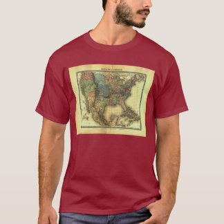 1848 Thunot Duvotenay Map:  Etats-Unis & Mexique T-Shirt