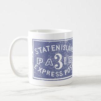1849 Staten Island Express, Blue Coffee Mug