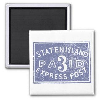 1849 Staten Island Express, Blue Refrigerator Magnet