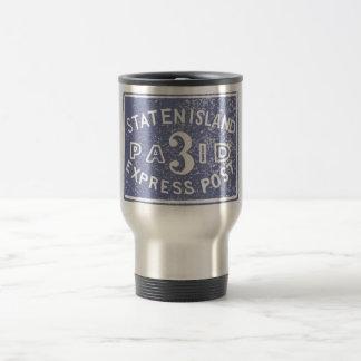1849 Staten Island Express, Blue Travel Mug