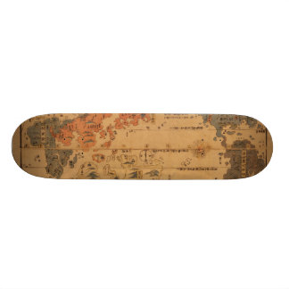 1850 Bankoku jinbutsu no zu People of many nations Skateboard Deck
