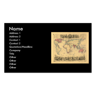 1850's Map of British Empire Throughout the World Business Card