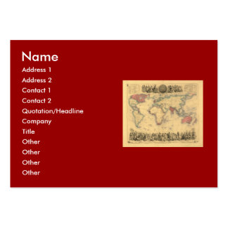 1850's Map of British Empire Throughout the World Large Business Cards (Pack Of 100)