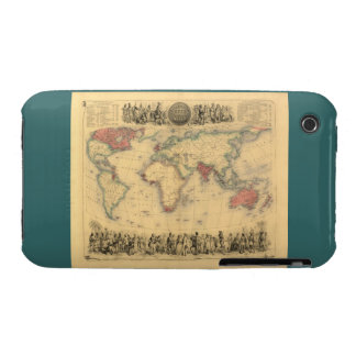 1850's Map of British Empire Throughout the World Case-Mate iPhone 3 Case