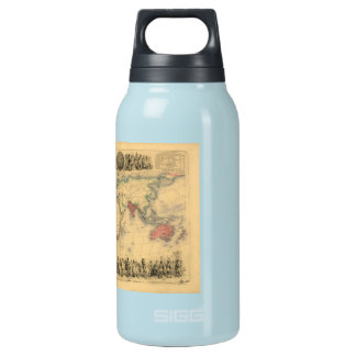 1850's Map of British Empire Throughout the World Insulated Water Bottle