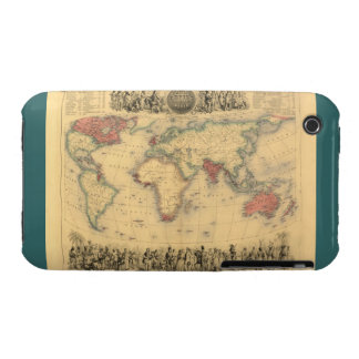 1850's Map of British Empire Throughout the World iPhone 3 Case-Mate Case