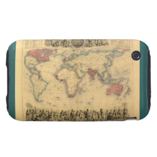 1850's Map of British Empire Throughout the World iPhone 3 Tough Case