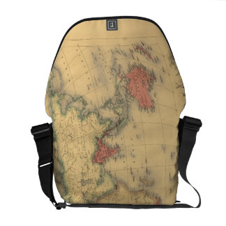 1850's Map of British Empire Throughout the World Messenger Bag