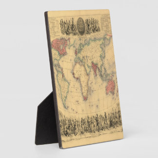 1850's Map of British Empire Throughout the World Plaque