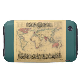 1850's Map of British Empire Throughout the World Tough iPhone 3 Case