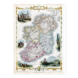 1851 Map Éire Postcard