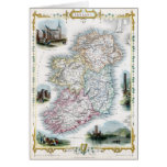 1851 Map of Ireland Card