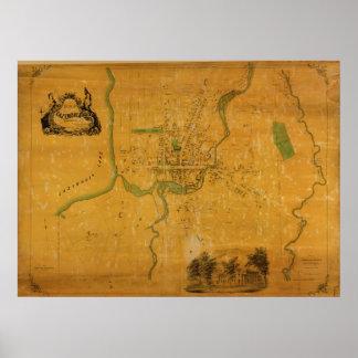 1852 Cazenovia Madison County New York NY Map Posters
