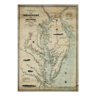 1852 Chart of Chesapeake and Delaware Bays