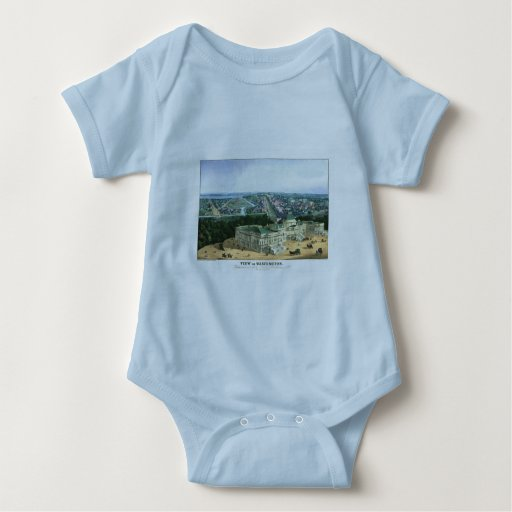 1852 Color Lithograph - View of Washington Baby Bodysuit