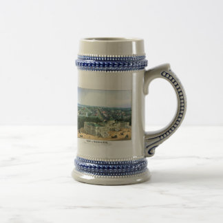 1852 Color Lithograph - View of Washington Beer Stein
