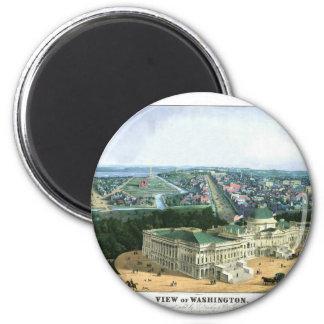 1852 Color Lithograph - View of Washington Magnet