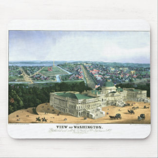 1852 Color Lithograph - View of Washington Mouse Pad