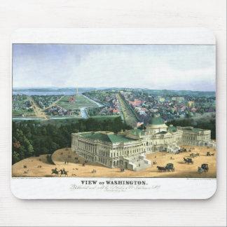 1852 Color Lithograph - View of Washington Mouse Mat