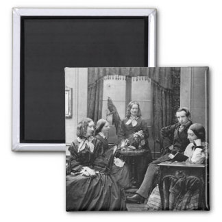 1852 del retrato de la familia iman para frigorífico