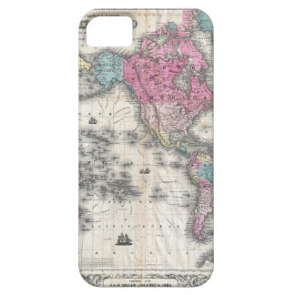1852 J.H. Colton Map of the World iPhone SE/5/5s Case