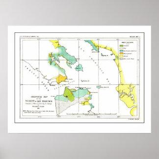 1853 Coastal Survey Map of San Francisco - Poster