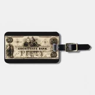 1853 Cochituate Fifty Dollar Note Tags For Luggage