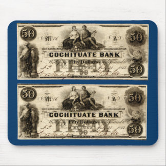 1853 Cochituate Fifty Dollar Note Mouse Pad