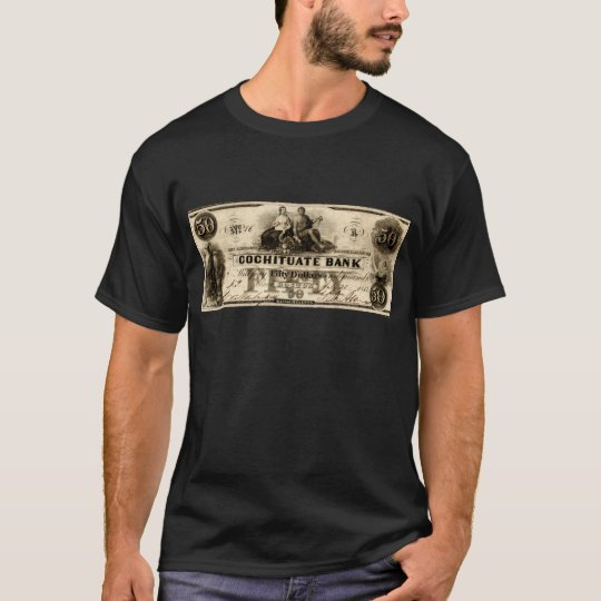 1853 Cochituate Fifty Dollar Note T-Shirt