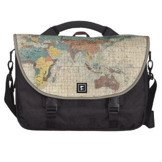 1853 Japanese World Map Bag Laptop Messenger Bag