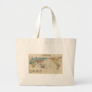 1853 Japanese world map by Suido Nakajima Canvas Bags