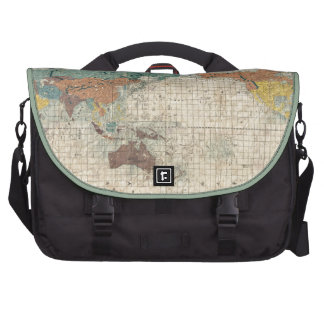 1853 Japanese world map by Suido Nakajima Commuter Bag