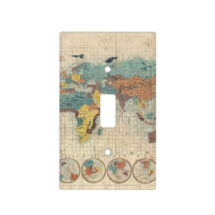 Old world map light switch covers zazzle 1853 japanese world map by suido nakajima light switch cover gumiabroncs Images