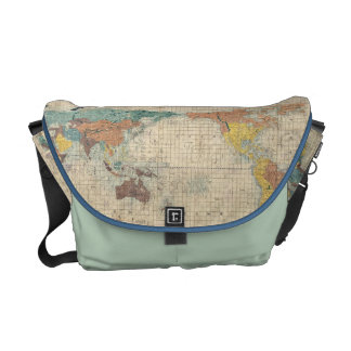 1853 Japanese world map by Suido Nakajima Courier Bag